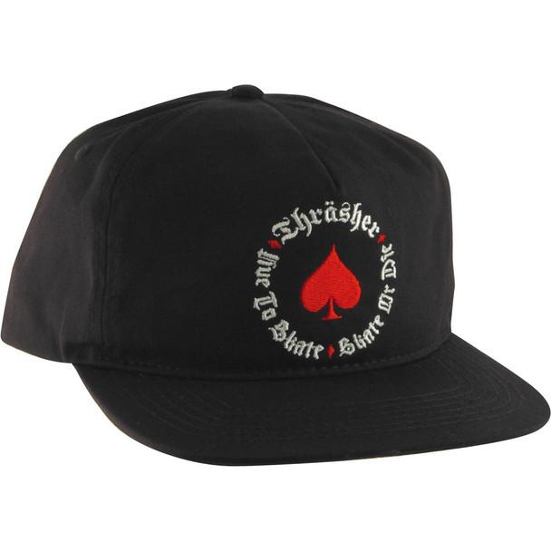 Thrasher Oath Hat Black Snapback