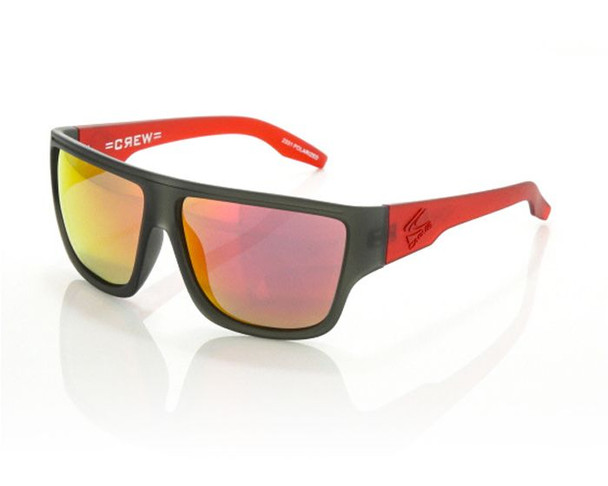 Carve Crew Sunglasses Matte Grey Red Polarized