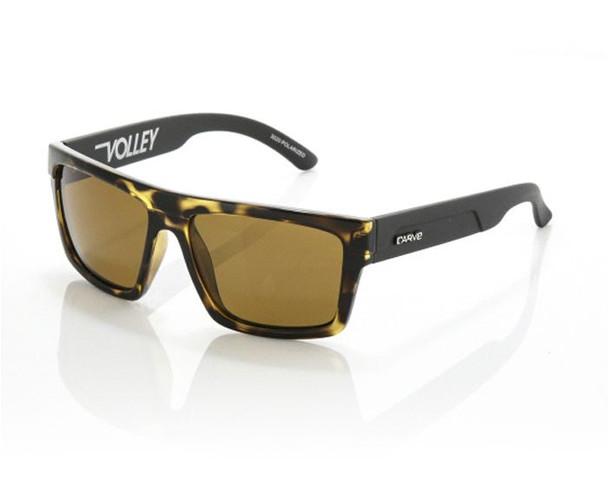 Carve Volley Sunglasses Tort Matte Black Polarized