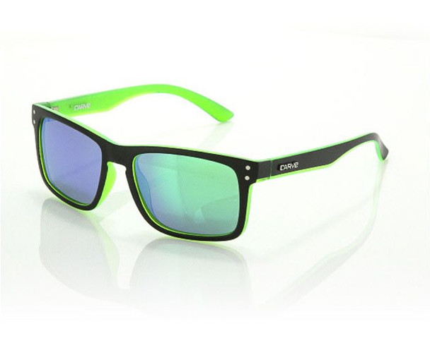 Carve Goblin Sunglasses Matte Black Green Polarized