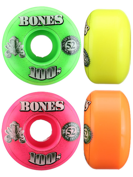 Bones 100 Party Pack Wheels #3 Wheels Set Assorted 52mm