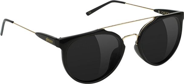 GLASSY CHUCK BLK/GOLD SUNGLASSES