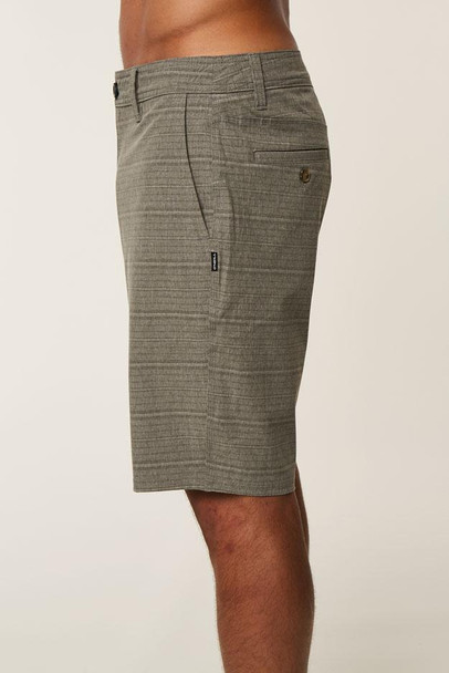 Oneill Locked Stripe Hybrid Shorts Mens Dark Khaki