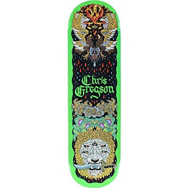 Blood Wizard Gregson Lion Skate Deck Green 8.5 w/ MOB Grip