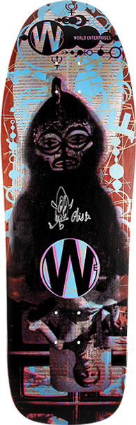 PRIME WORLD ENTERPRISES ART BY O SKATE DECK-9.87x31.25 w/MOB GRIP