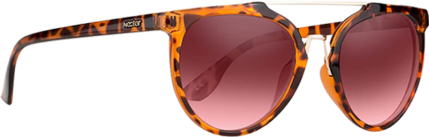 NECTAR BELLINI POLARIZED SUNGLASSES BROWN TORT/ROSE