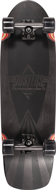 DUSTERS CAZH BLACKED CRUISER SKATEBOARD COMPLETE-8.75x29.5 BK