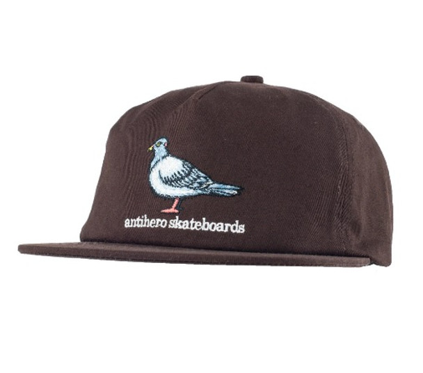 9a932b39a084e Anti Hero Pigeon Emblem 5Panel Hat Brown Snapback