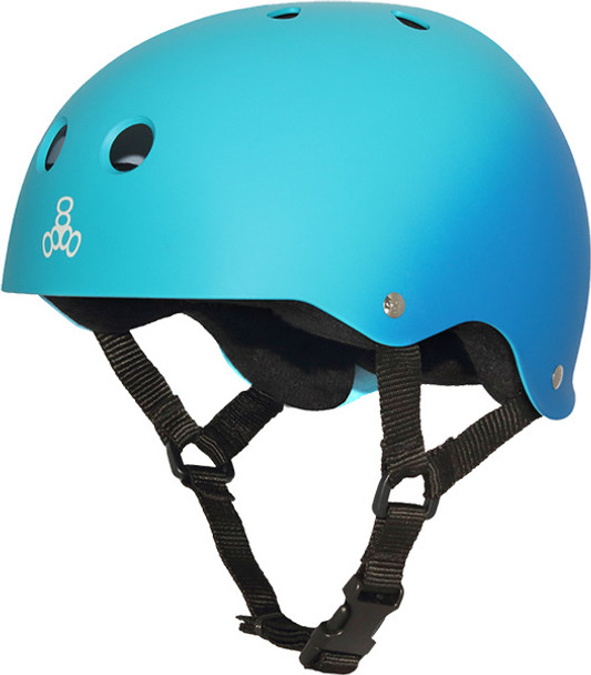 Triple 8 Rubber Fade Helmet Blue Turqoise L