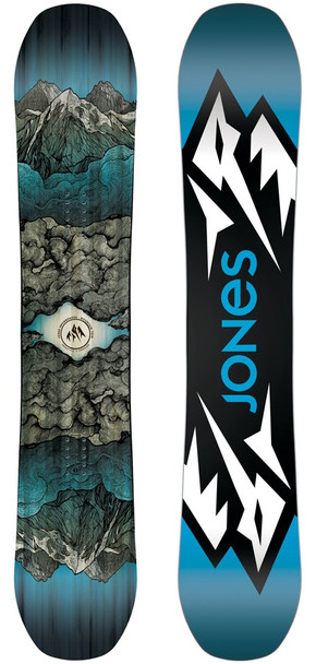 Jones Mountain Twin Snowboard Blue 157