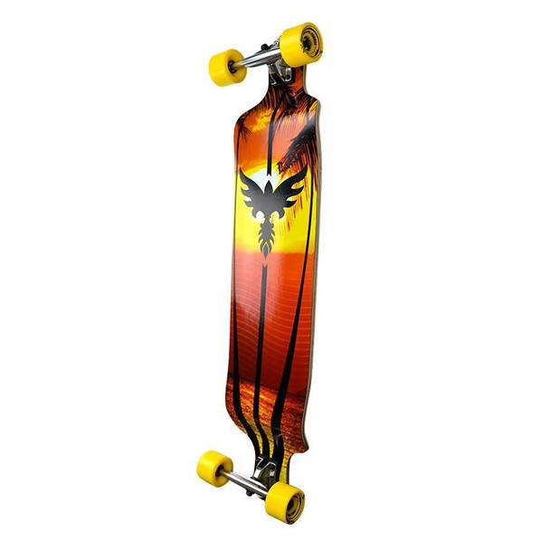 """Punked Drop Down Sunset Comple Red Yellow 41.25""""x10"""""""