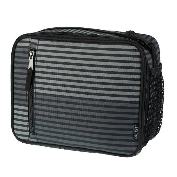 Packit Classic Lunch Box Gray Stripe OneSize