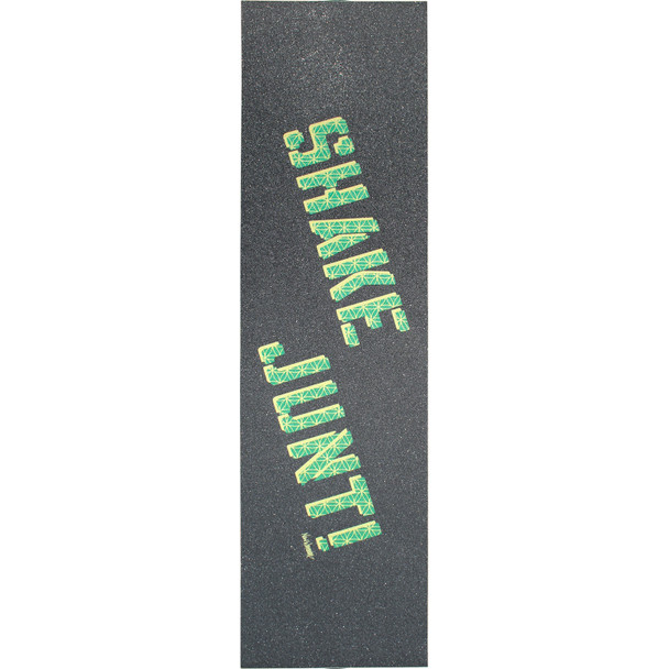 Shake Junt Logo  Grip Tape Blk Yel Grn 9x33