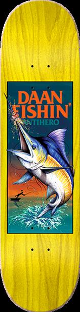 ANTI HERO DAAN FISHIN SKATE DECK-8.5 w/ MOB GRIP