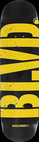 BOULEVARD LOGO SKATE DECK-8.25 BLK/YEL