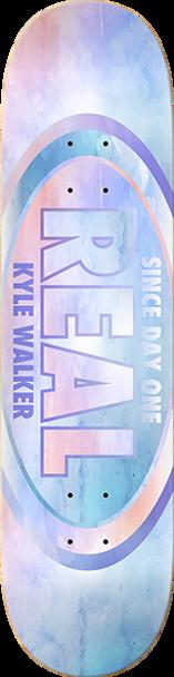 REAL WALKER WATERCOLOR SKATE DECK-8.38 w/ MOB GRIP
