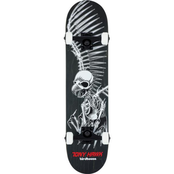 Birdhouse Tony Hawk Full Skull Skateboard Complete Black Grey 7.5 ... 48f1de883c1
