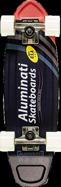 ALUMINATI FOILED A-FRAME SKATEBOARD COMPLETE-7x24