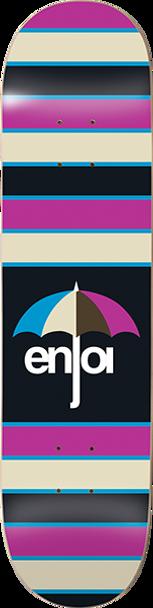 ENJOI STRIPES SKATE DECK-8.0 PURPLE w/ MOB GRIP