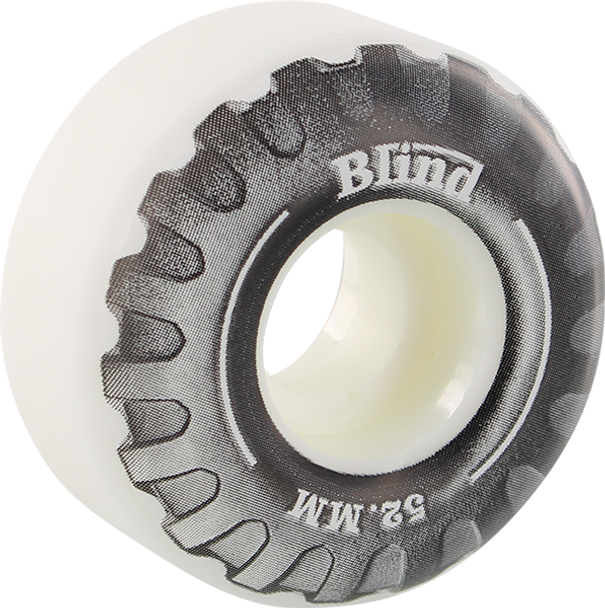 BLIND TRUCK 52mm WHT/BLK WHEELS SET