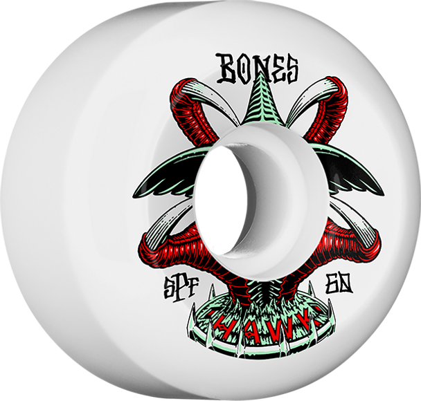 BONES HAWK SPF P5 TALON 60mm WHT WHEELS SET