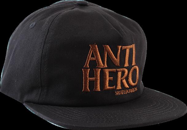 ANTI HERO BLACKHERO HAT ADJ-BLK/BROWN