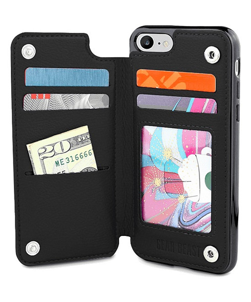 Gear Beast iPhone 8/7 TopView Wallet Black Onesize
