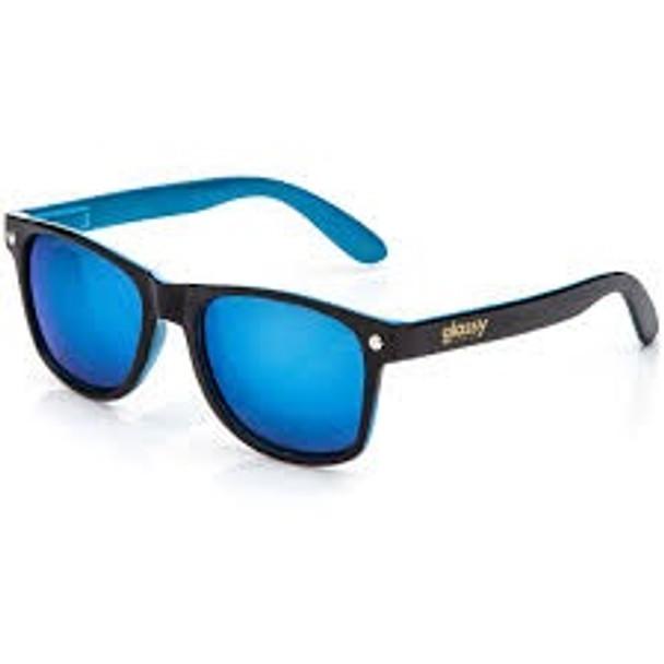 Glassy Leonard Black Blue Mirror