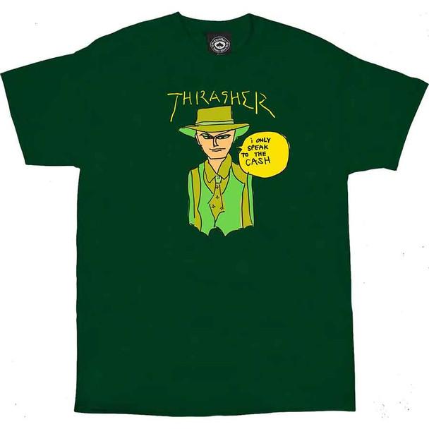 Thrasher Gonz Cash SS TShirt Forest Green