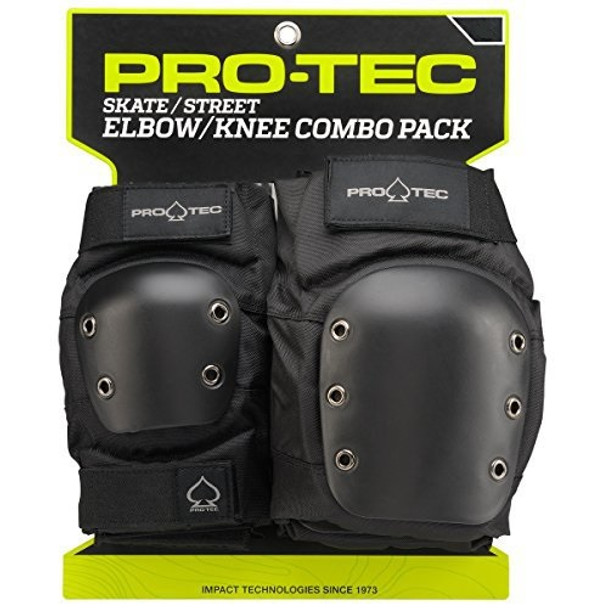 ProTec Street 2 Pack Elbow Knee Pads Set Black