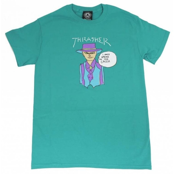 Thrasher Gonz Cash SS TShirt Jade Green