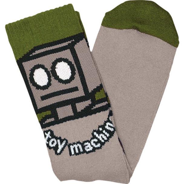 Toy Machine Robot Crew Socks Sand Onesize
