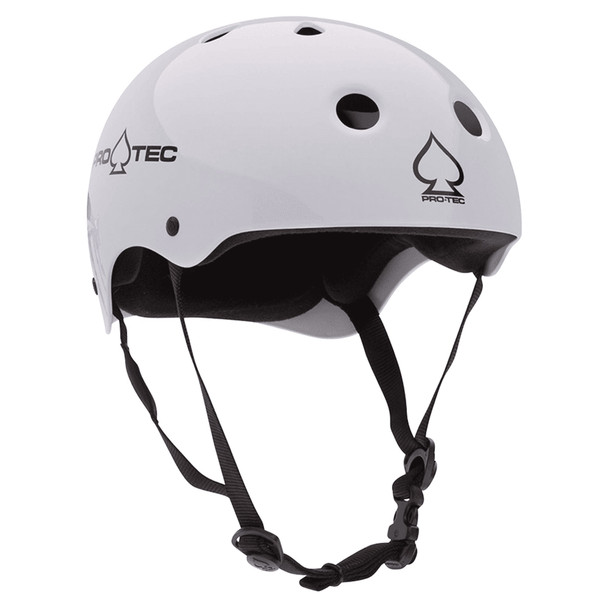 Protec Classic Skate Helmet Gloss White S