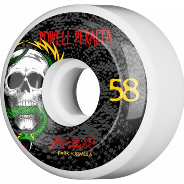 Powell McGill Skull & Snake Wheels Set White Red 58mm