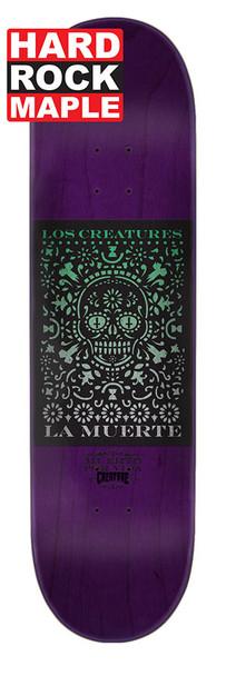 Creature La Muerte Skate Deck Black 8.0 w/ MOB GRIP