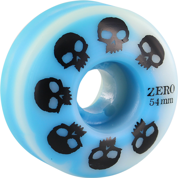 ZERO MULTI-SKULL 54mm BLUE/WHT SWIRL WHEELS SET