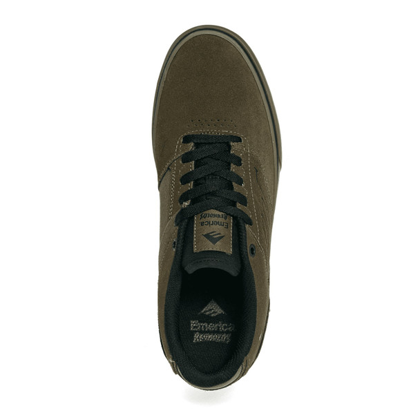 Emerica Reynolds Low Vulc Skate Shoes Olive Black Gum