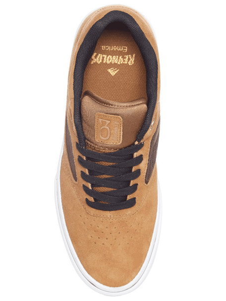Emerica Reynolds 3 G6 Vulc Skate Shoes Tan Brown
