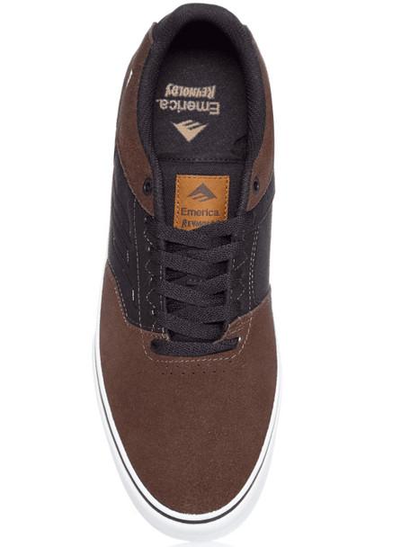 Emerica Reynolds Low Vulc Skate Shoes Brown Black