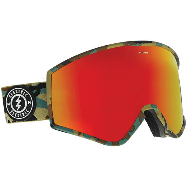 Electric Kleveland Goggles Camo Brose Red Chrome (w/ Bonus Lens)