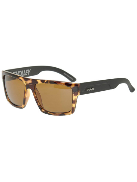Carve Volley Floatable Sunglasses Matte Tort Brown Polarized