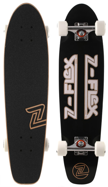 Z-Flex Z-Bar Cruiser Skateboard Complete Black 29""