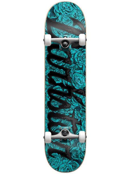 Darkstar Roses Skateboard Complete Light Blue 7.25