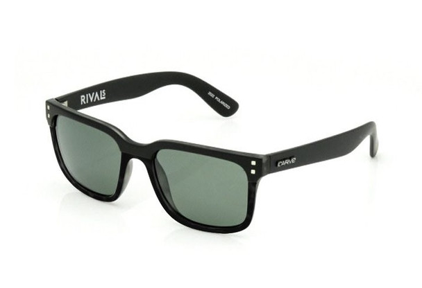 Carve Rival Sunglasses Matte Black Black Polarized