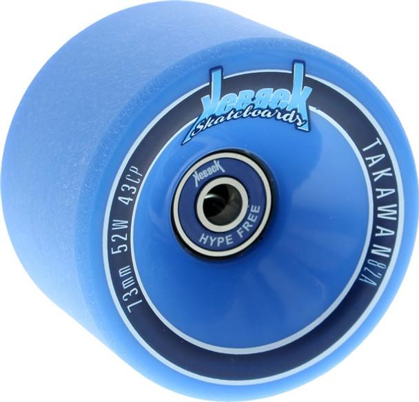 Kebbek Takawan Wheels w/Bearing Blue 73mm/82a