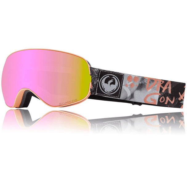 Dragon X2s Snow Goggles Flaunt Pnk Ion Dark Smoke