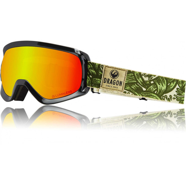 Dragon D3 OTG Snow Goggles Plex Red ION Amber