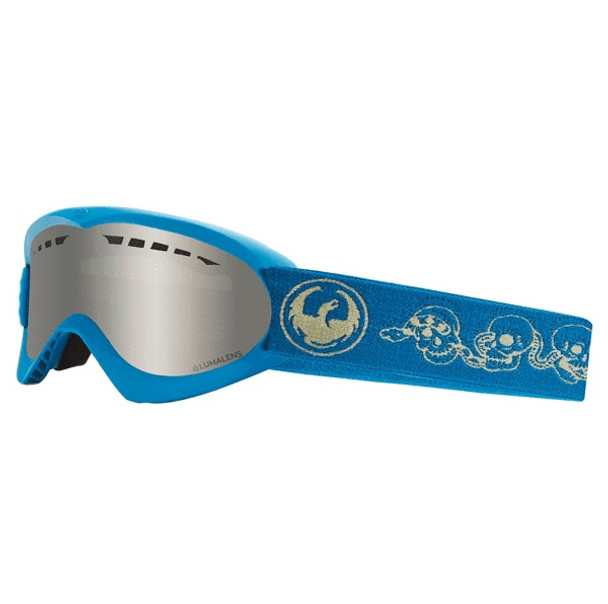 Dragon DXS Snow Goggles Skully LumaLens Silver ION
