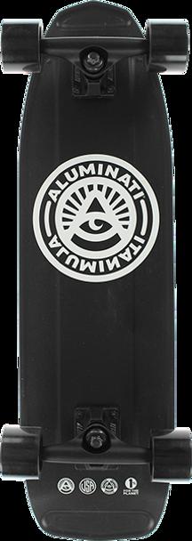 ALUMINATI F2 HF2 HIGGS SKATEBOARD COMPLETE-8.12x28 BLACK