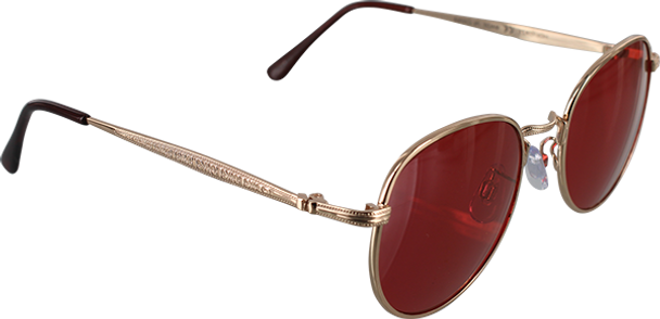 HAPPY HOUR HAWK HOLIDAZE SUNGLASS GOLD/RED